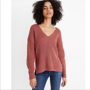 Madewell Chunky Cable Knit Pullover Sweater